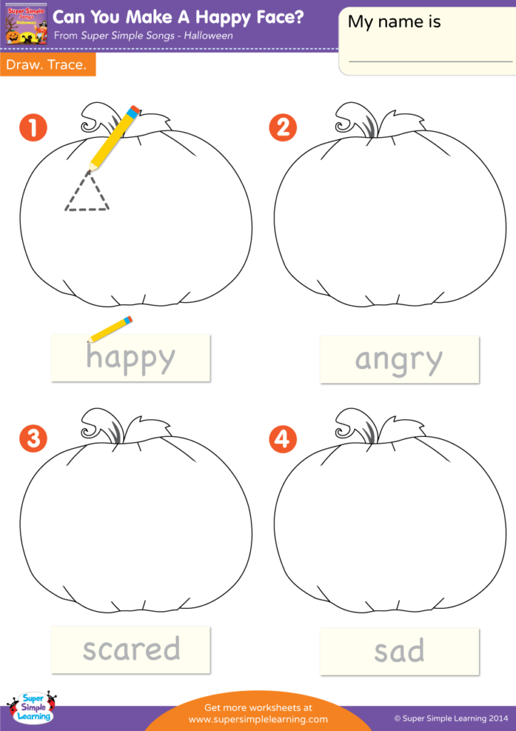 Can You Make A Happy Face Worksheet Draw Trace