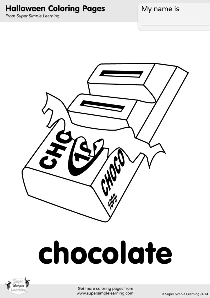 Chocolate Coloring Page - Super Simple