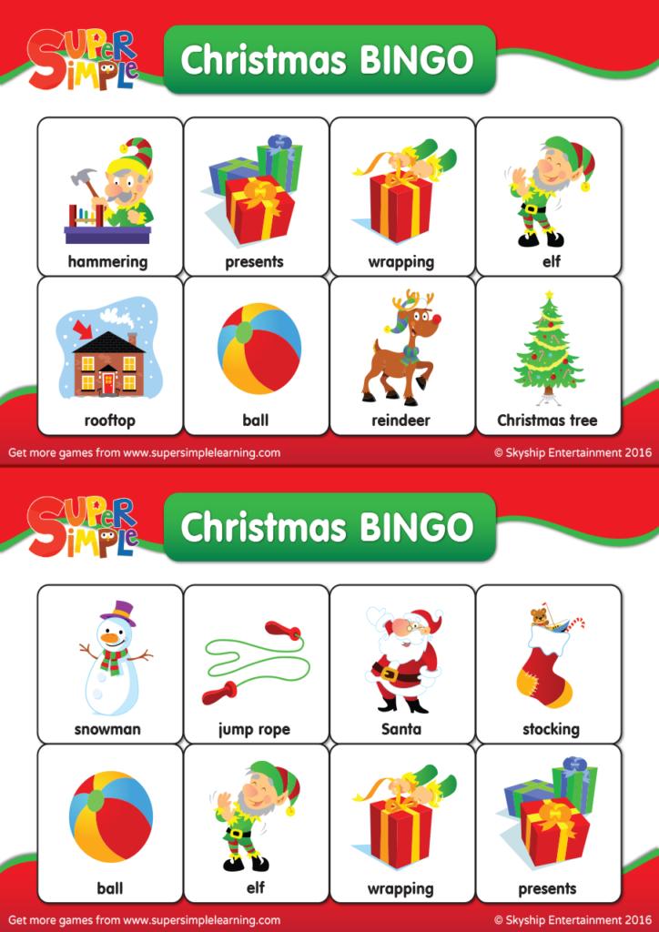 Christmas Bingo.Christmas Bingo Cards Super Simple