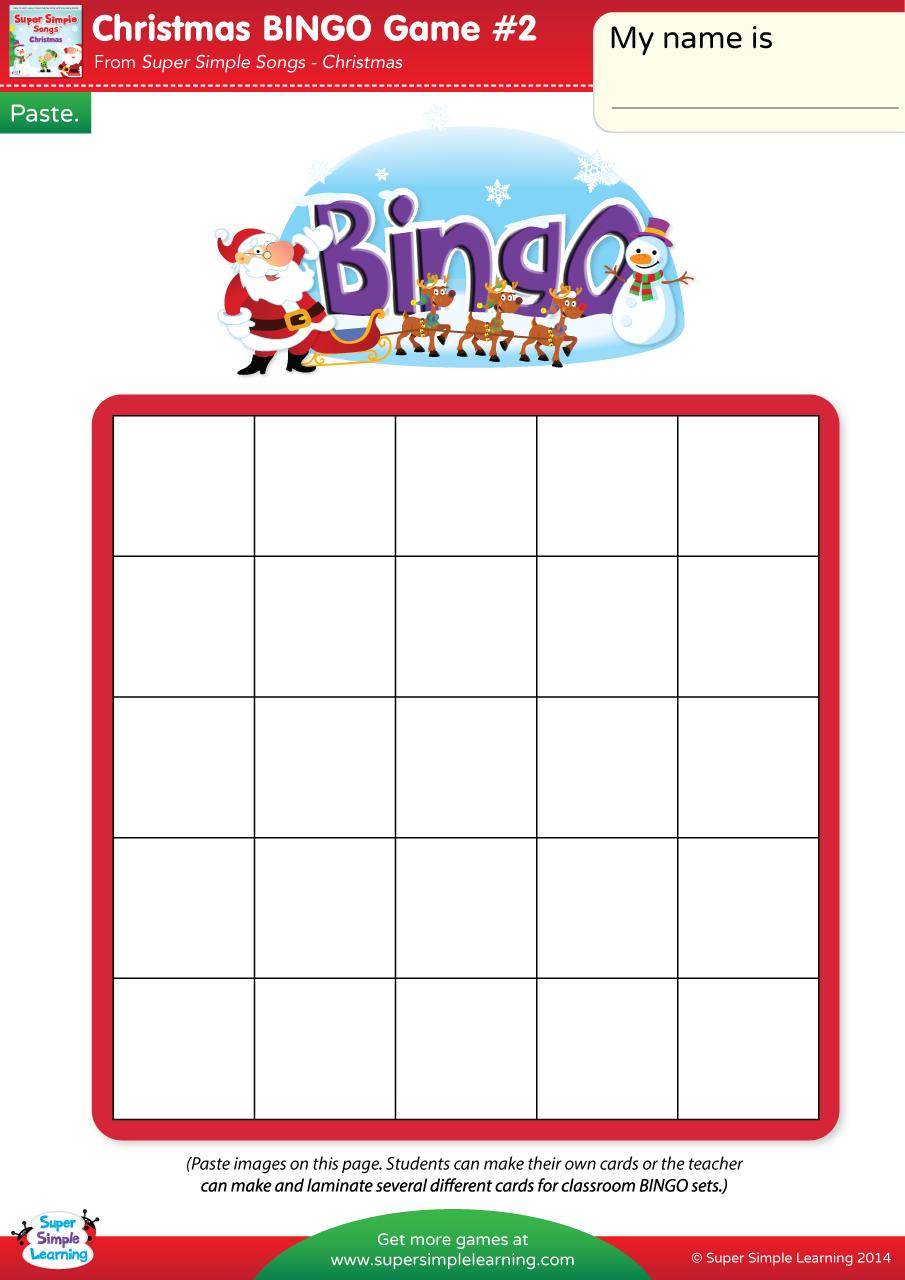 christmas bingo game 2 super simple - Christmas Bingo