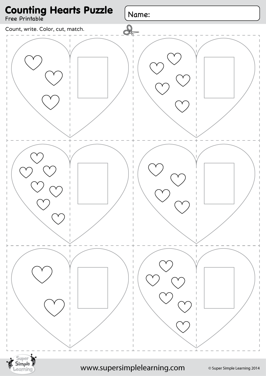 counting hearts puzzle super simple. Black Bedroom Furniture Sets. Home Design Ideas