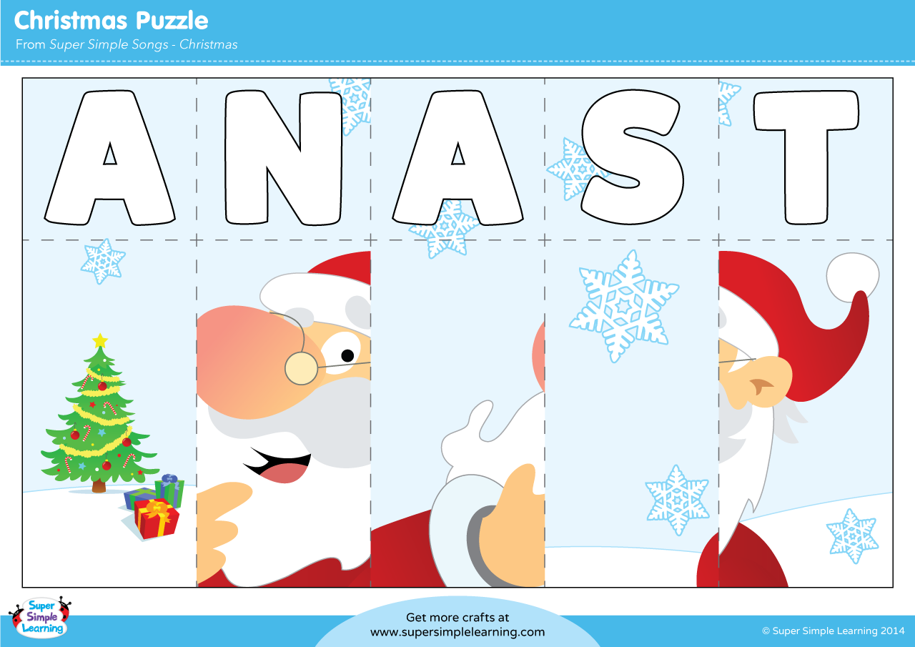 s a n t a puzzle super simple - Super Simple Songs Christmas