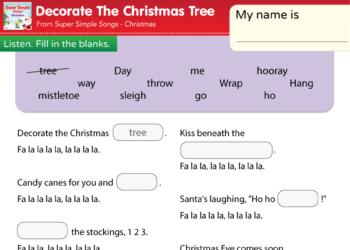 Decorate The Christmas Tree Super Simple Songs