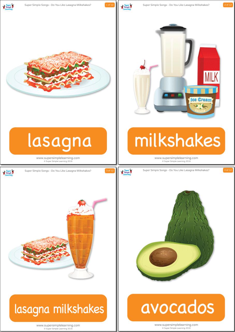 Do You Like Lasagna Milkshakes Flashcards Super Simple
