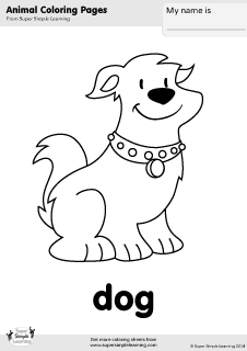 milo cat otis dog coloring pages | Dog Coloring Page | Super Simple