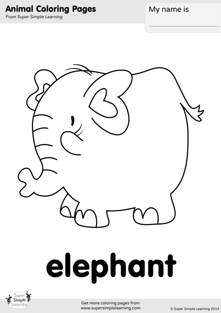 Elephant | Free Printable Templates & Coloring Pages ... | 1024x724