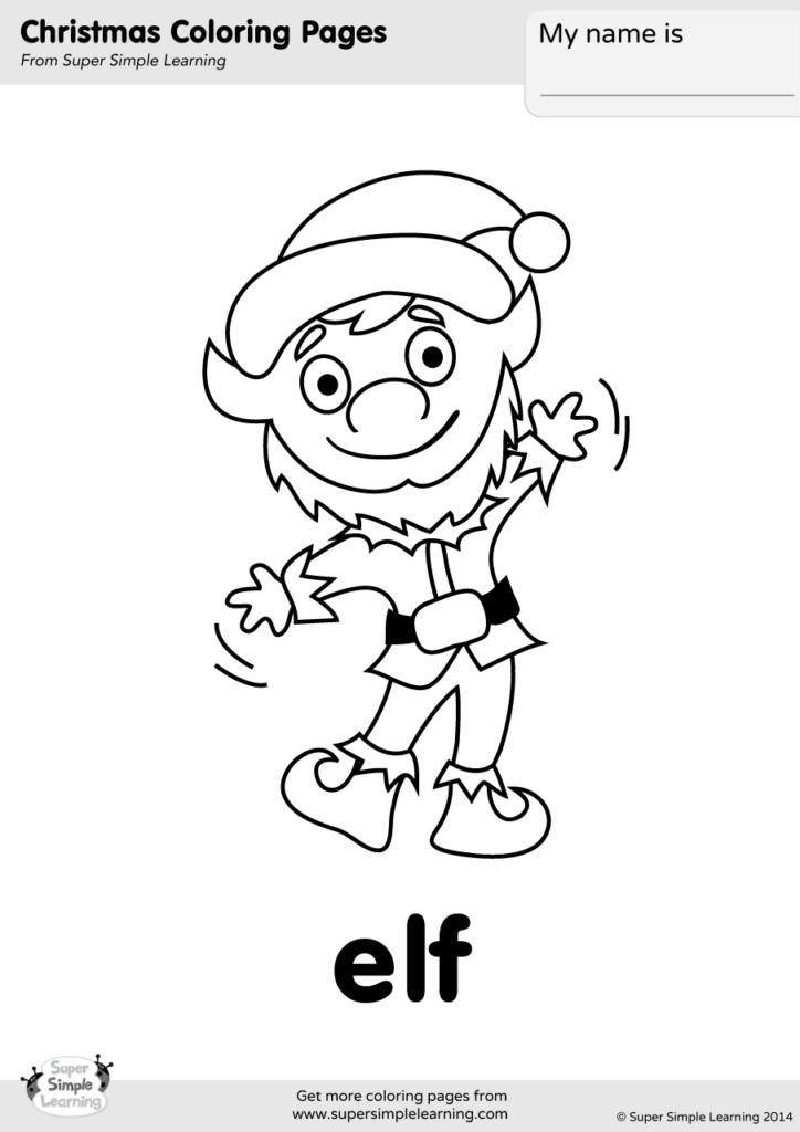Elf Coloring Page Super Simple