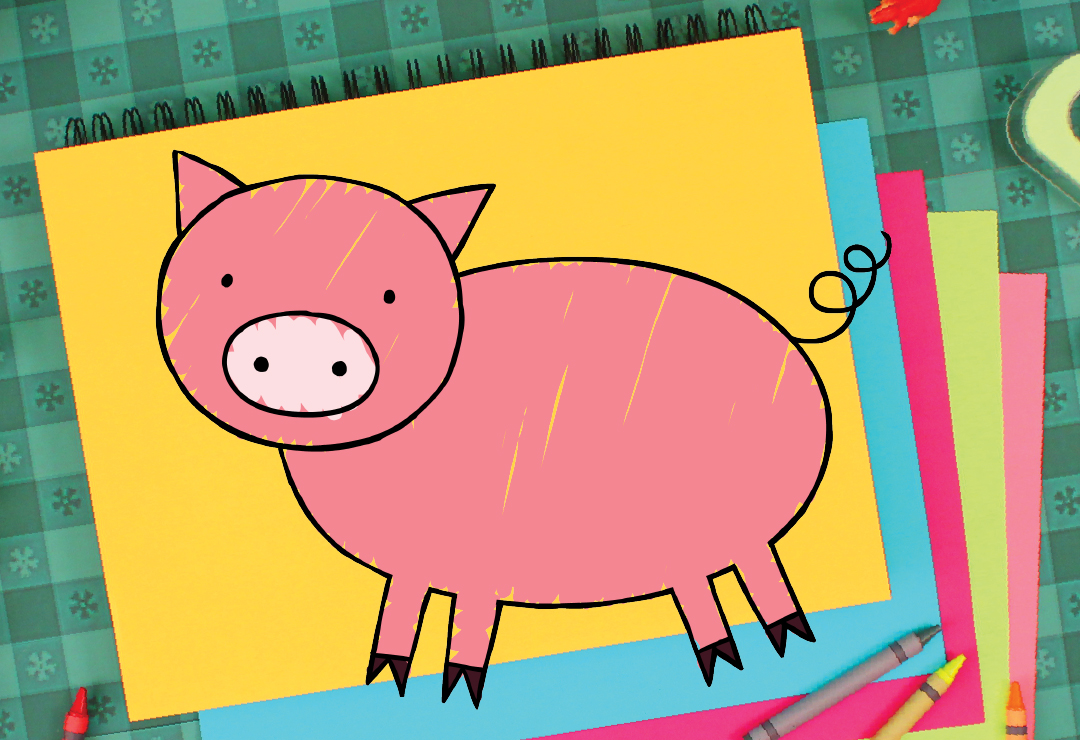 How To Draw A Pig Super Simple