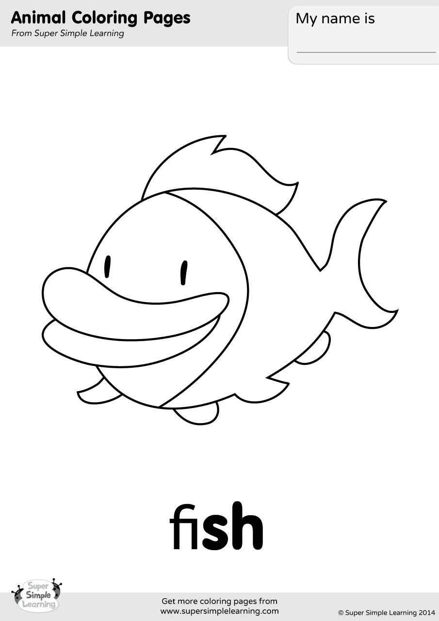 Fish Coloring Page | Super Simple