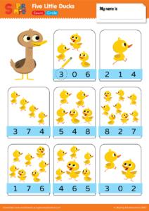 Five Little Ducks Count Circle