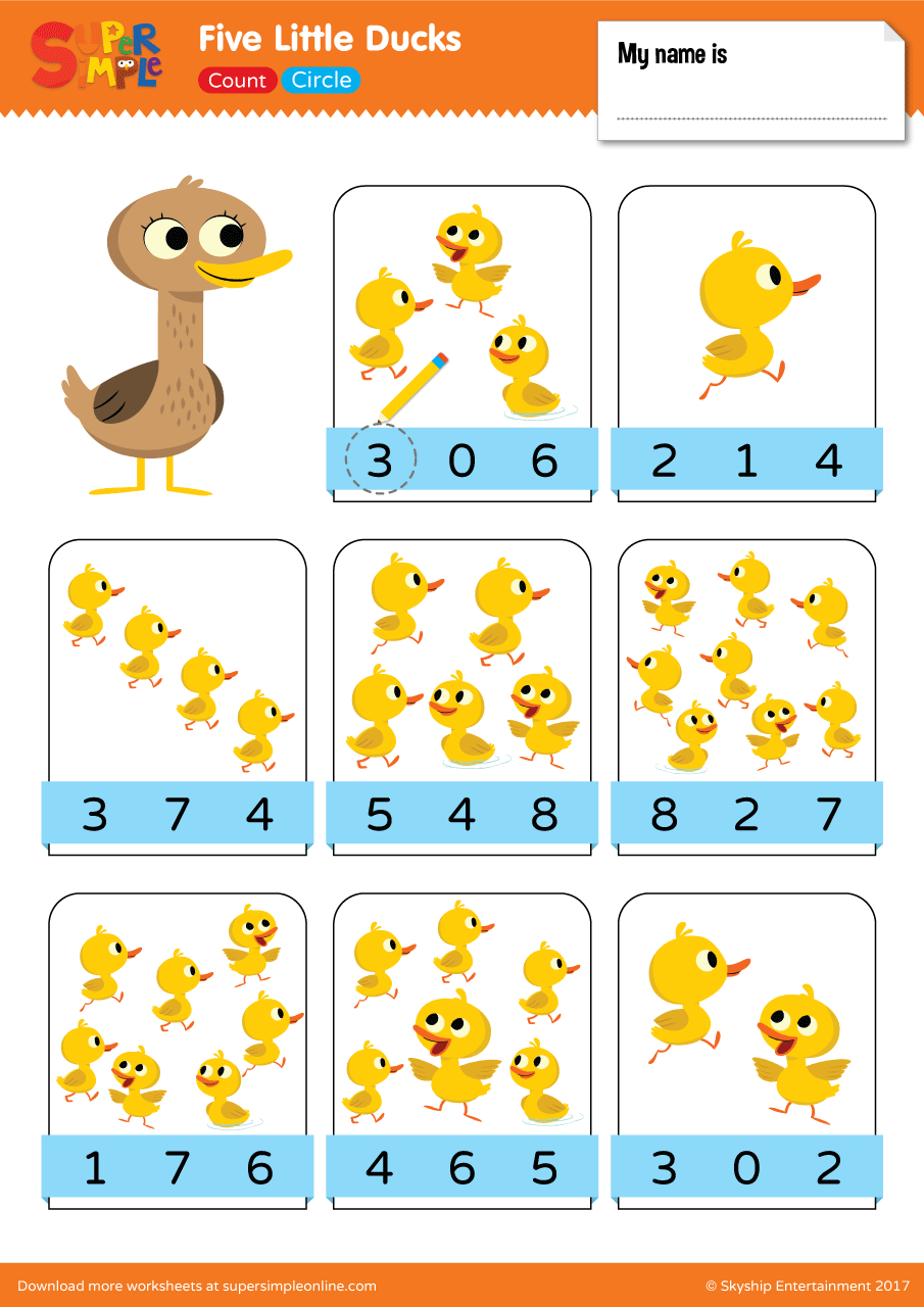 Five Little Ducks Count Circle Super Simple