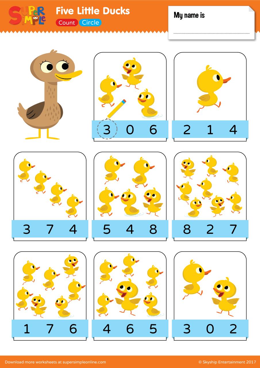 Five Little Ducks Count Amp Circle Super Simple