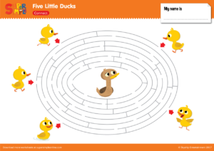 Five Little Ducks Maze Super Simple