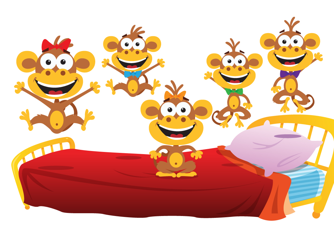 Resultado de imagen de five little monkeys super simple songs