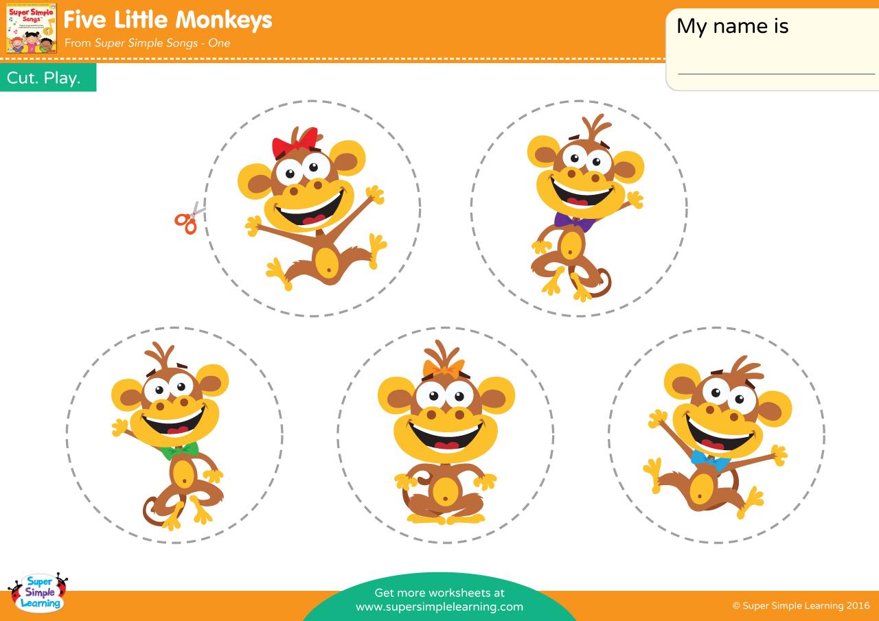 Five Little Monkeys Play Set Super Simple