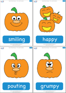 photograph relating to Five Little Pumpkins Poem Printable identified as 5 Tiny Pumpkins - Tremendous Uncomplicated Audio
