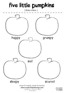 Five Little Pumpkins Worksheet