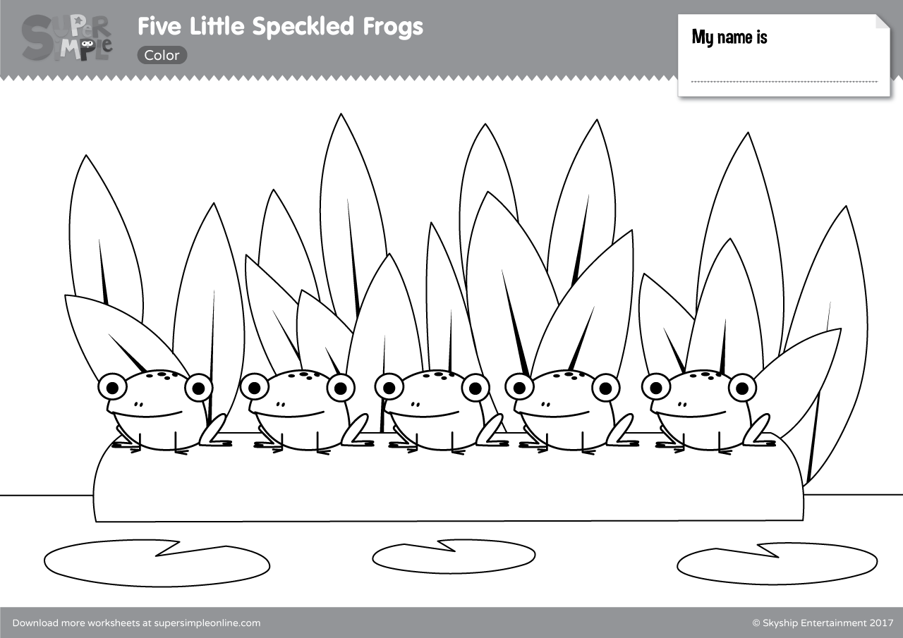 Five Little Speckled Frogs Super