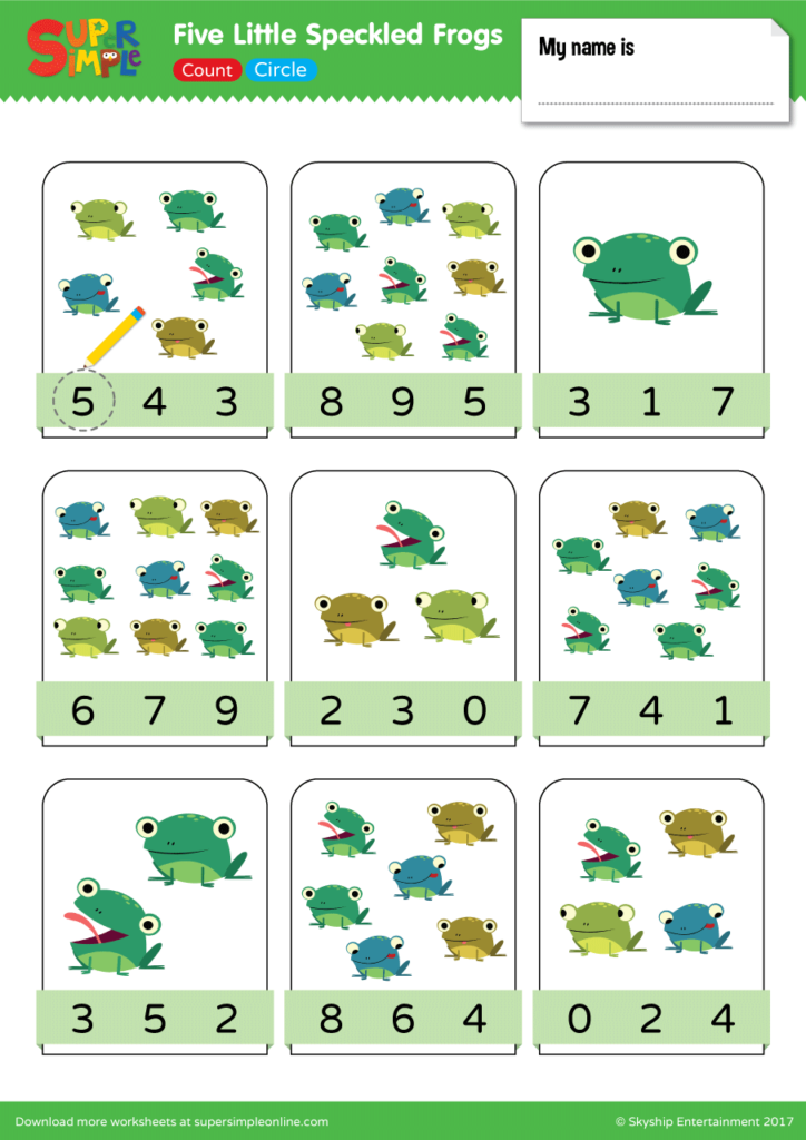 Five Little Speckled Frogs Count Amp Circle Super Simple