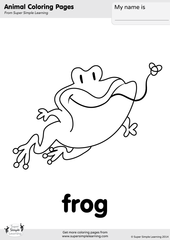 Frog Coloring Page - Super Simple