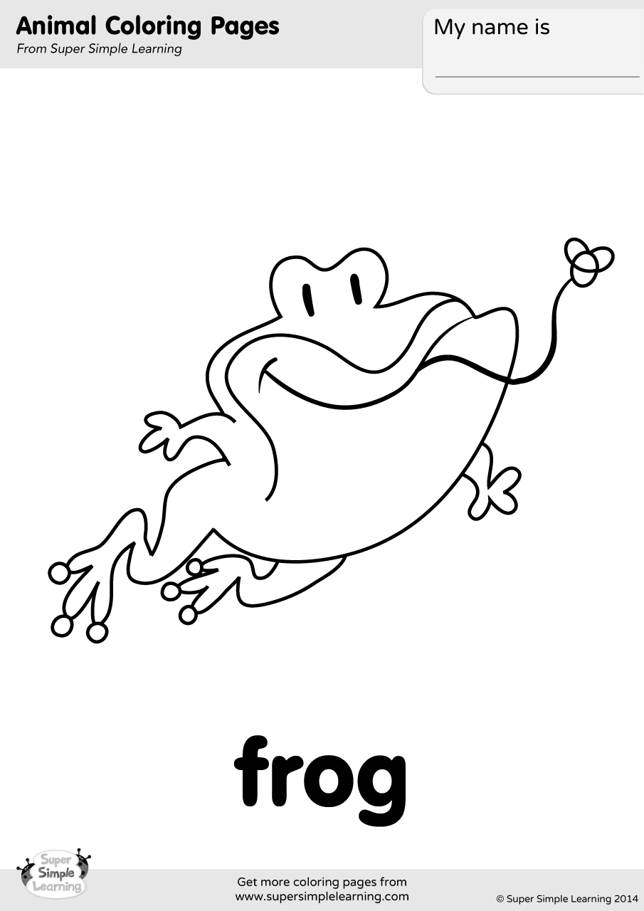 Frog Coloring Page Super Simple