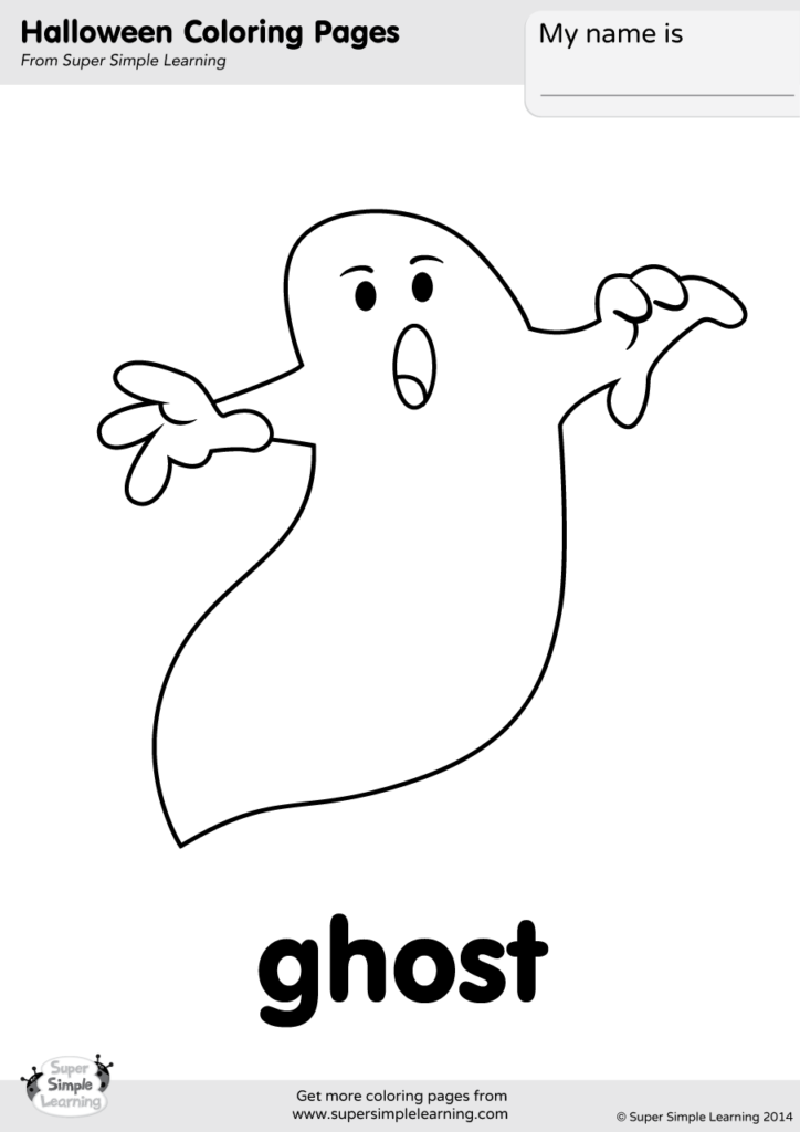 Ghost Coloring Page Super Simple