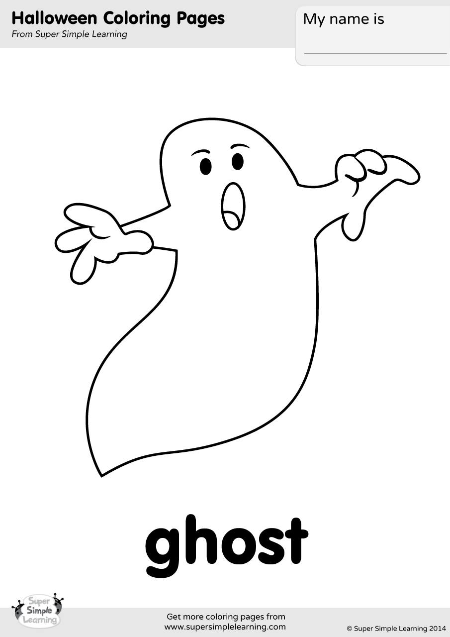 Ghost Coloring Page | Super Simple