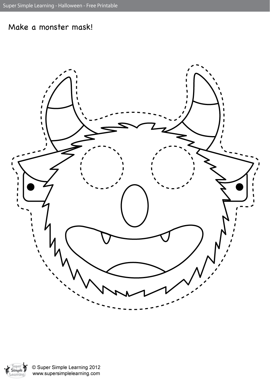 Go Away Worksheet Make A Mask Super Simple