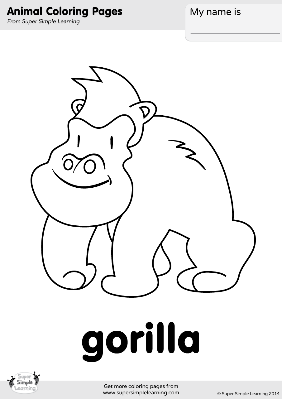 For Gorilla Colouring Pages Sketch