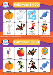 Halloween BINGO Cards | Super Simple