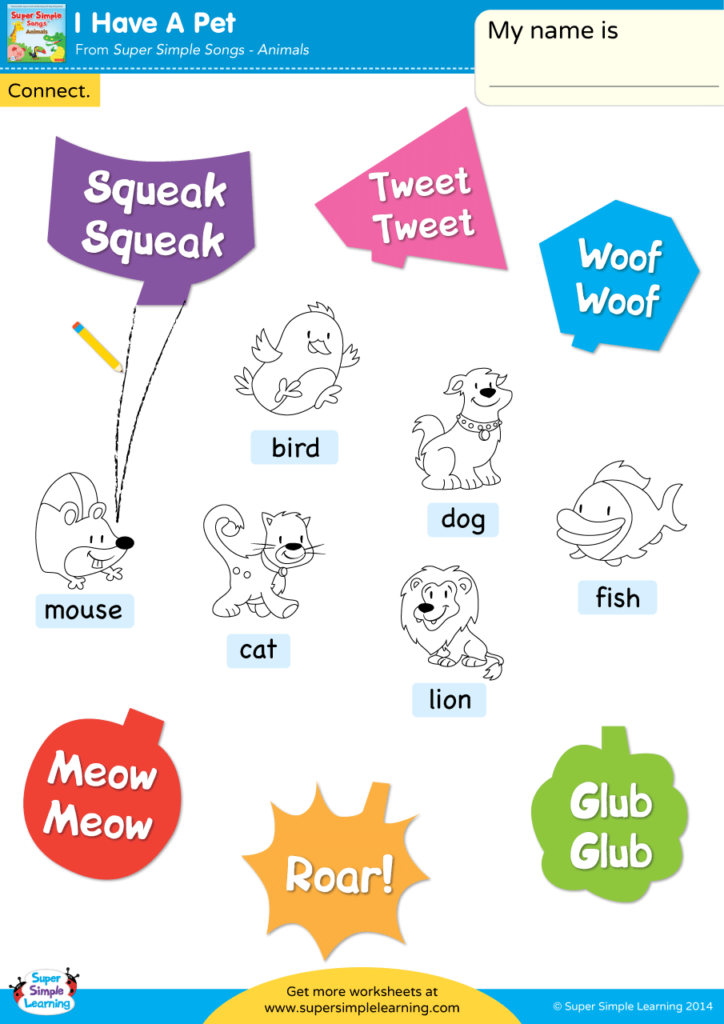 I Have A Pet Worksheet Connect Super Simple