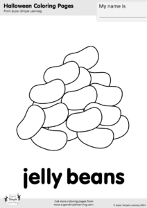 Jelly Beans Coloring Page Super Simple