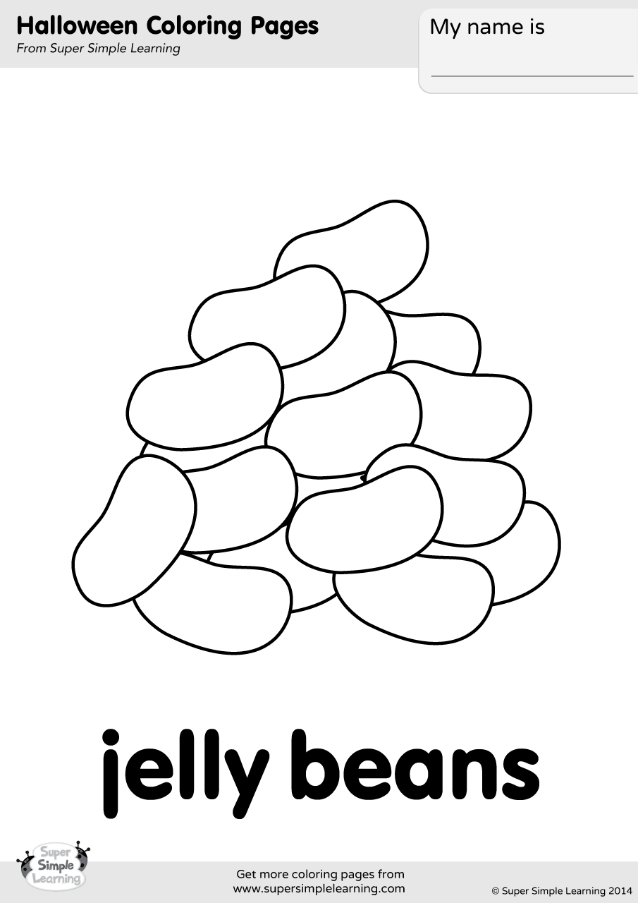 Jelly Beans Coloring Page Super