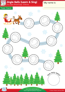 Jingle Bells Worksheet Trace Count Super Simple