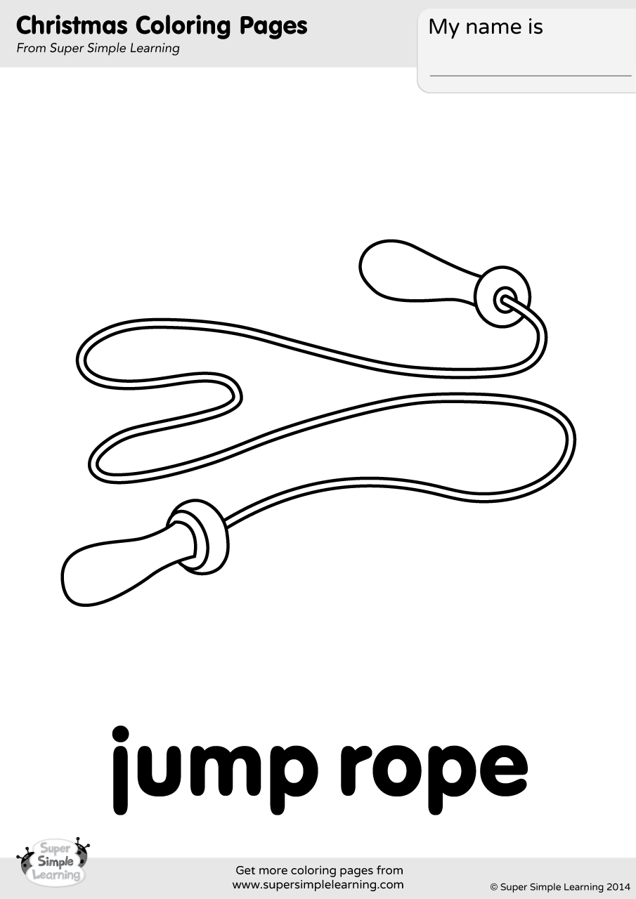 jump coloring pages for kids | Jump Rope Coloring Page | Super Simple
