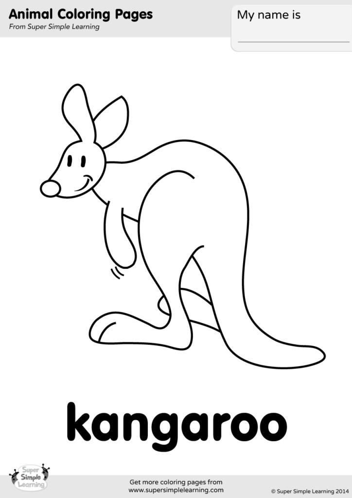 Kangaroo Coloring Pages