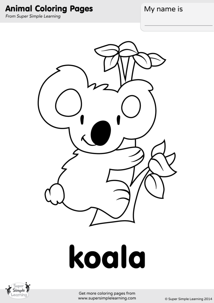 Koala Coloring Pages - GetColoringPages.com | 1024x724