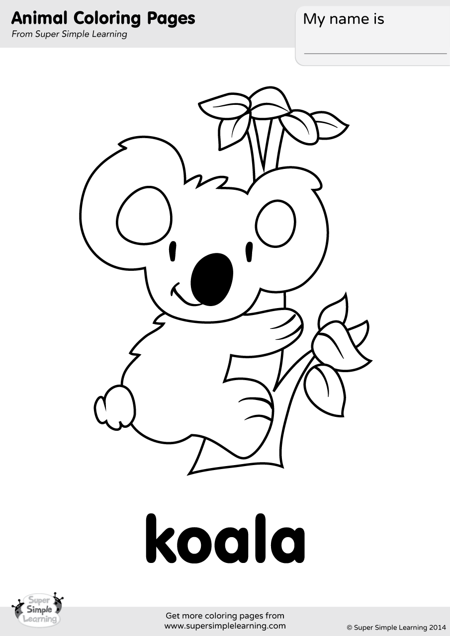 Koala Coloring Page | Super Simple