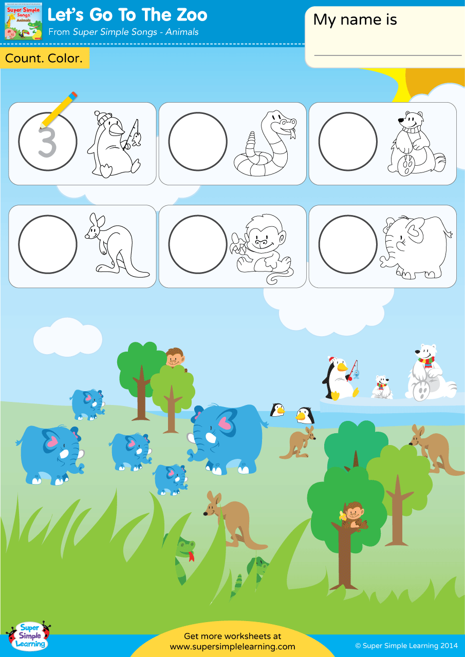 Let 39 s Go To The Zoo Worksheet Find Write Super Simple