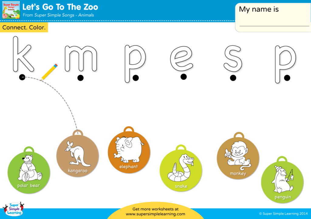 Let's Go To The Zoo Worksheet