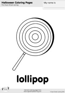 Lollipop Coloring Page Super Simple - Lollipop-coloring-page
