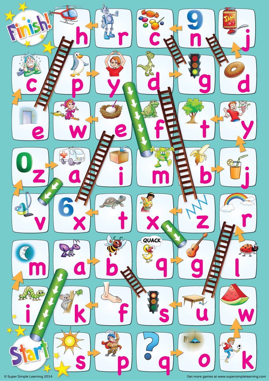 lowercase alphabet chutes  u0026 ladders game