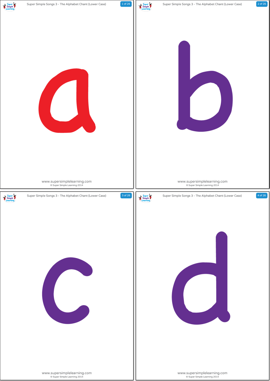 This is an image of Ridiculous Printable Lowercase Alphabet