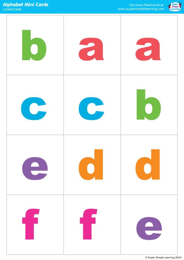 Lowercase Alphabet Mini Cards Colorful Version Super