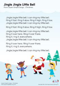 Jingle Jingle Little Bell Lyrics Poster