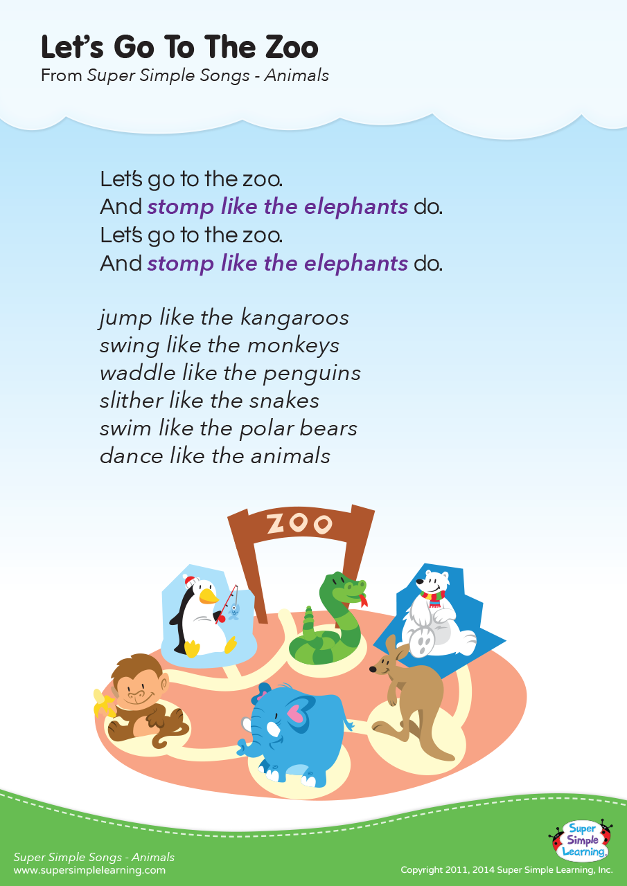 Let 39 s Go To The Zoo Lyrics Poster