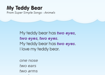 My Teddy Bear Lyrics Poster