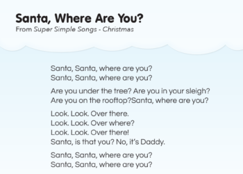 All I Want For Christmas Is You Lyrics To Print.Song Lyrics Super Simple