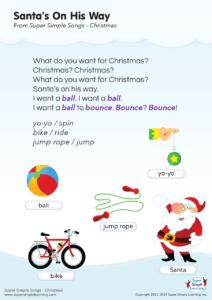 Santa S On His Way Lyrics Poster Super Simple
