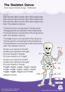 The Skeleton Dance Lyrics Poster Super Simple